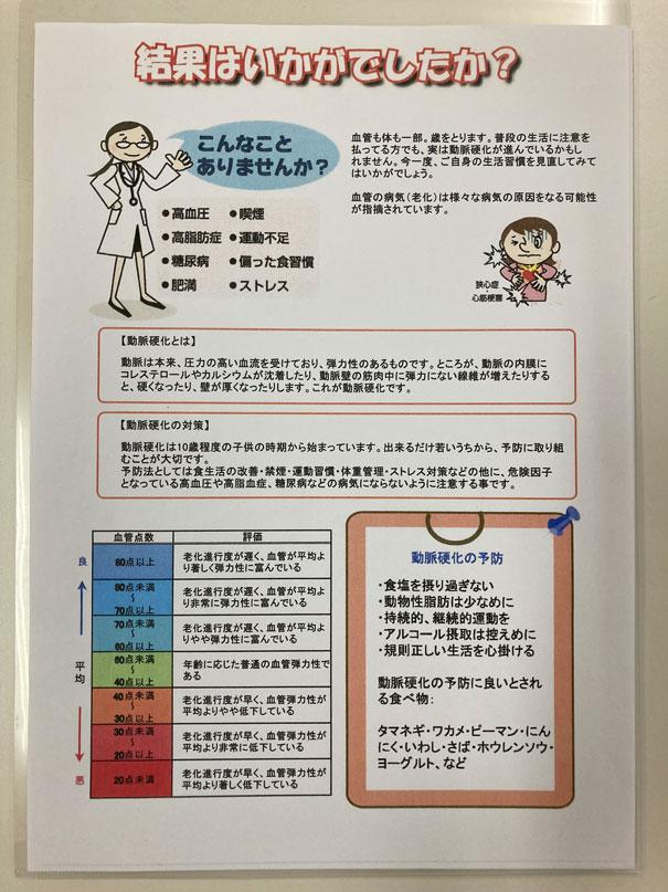 血管年齢計-結果
